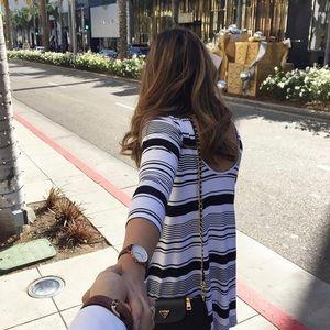Ava sky striped dress